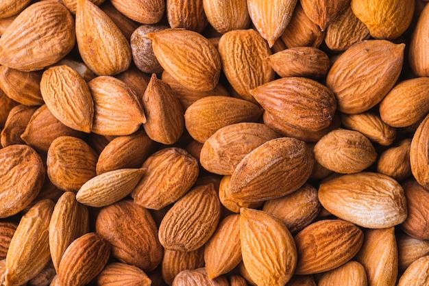 Hintergrund des gesunden mandelsnacks