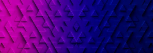 Hintergrund des hintergrunds des bunten dreiecksmusters. 3d-rendering.