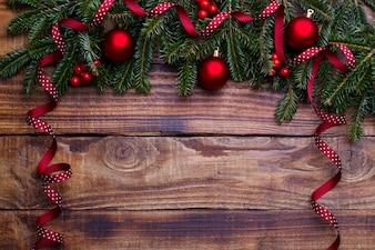 Hintergrund des neuen Jahres und des Weihnachten