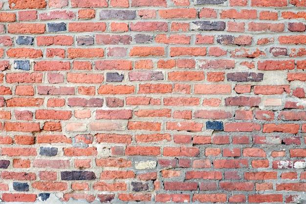 Hintergrund des roten backsteinmauer-musters. kann zur innenausstattung verwendet werden.