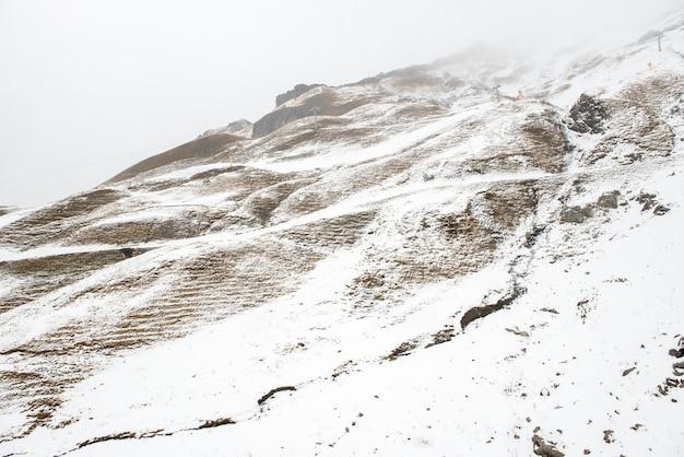 Hintergrund des schneeberges