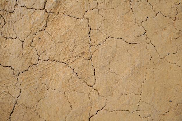 Hintergrund des trockenen rissigen bodens strukturiert