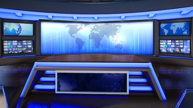 Hintergrund des virtuellen fernsehstudios