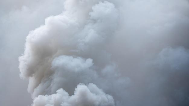 Hintergrund des weißen nebels oder des rauches