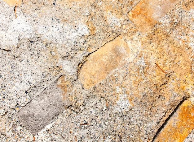Hintergrund einer alten oberfläche des metallbetons.