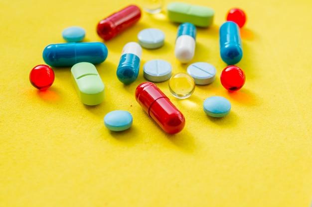 Hintergrund einer zusammenstellung der bunten medikationen