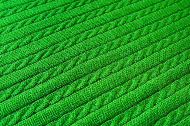Hintergrund gemacht von gestrickter verzierungsbeschaffenheit. makrofoto.