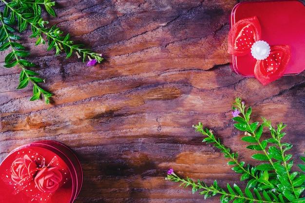 Hintergrund-geschenkbox weihnachten und ein glückliches neues jahr