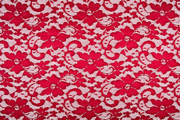 Hintergrund guipureroter stoff mit blumen