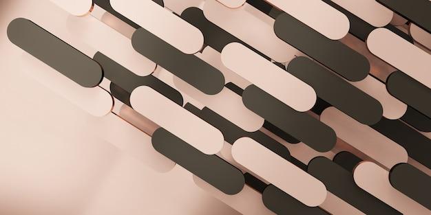 Hintergrund im klassischen stil szene retro-rosa-gold 3d-darstellung