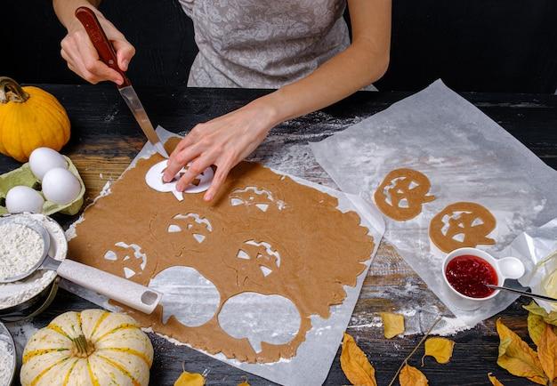 Hintergrund im stil des feiertags halloween