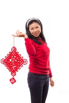 Hintergrund kleidung traditionellen erwachsenen cheongsam