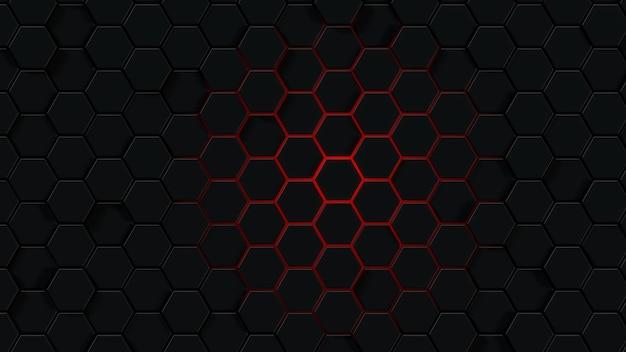 Hintergrund mit abstrakten sechsecken. 3d-rendering von polygonalen formen.