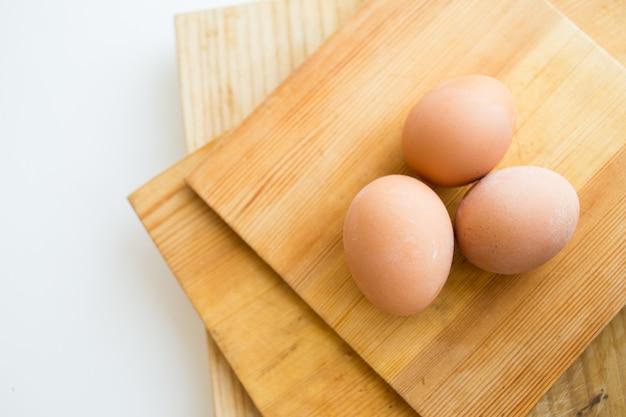 Hintergrund mit eiern kochen