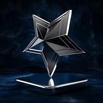 Hintergrund mit einem symbol, einem symbol und einem sockel.