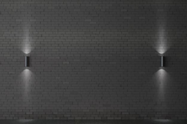 Hintergrund mit einer alten dunklen backsteinmauer. innenausstattung im loft-stil.