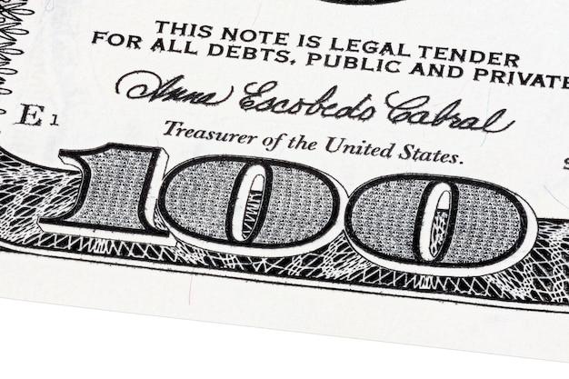 Hintergrund mit geld american hundert dollar-scheine gestapelt schuss. hochauflösendes foto.