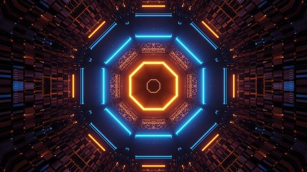 Hintergrund mit lichtern in kreisförmiger reihenfolge