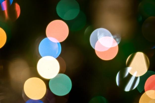 Hintergrund mit lichtern und unscharfem bokeh hintergrund.