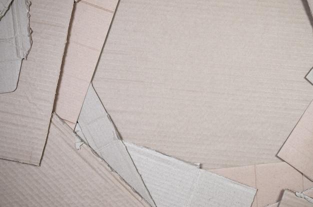 Hintergrund mit vielem beige papppapier