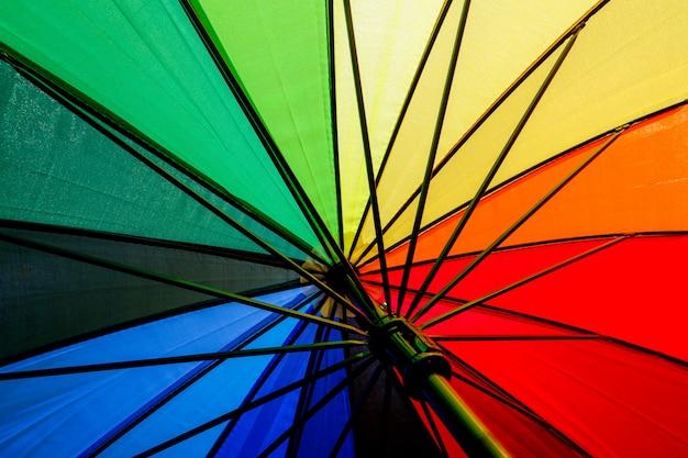 Hintergrund stoff textur des bunten regenschirms