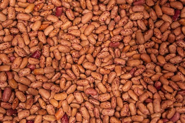 Hintergrund vieler körner getrockneter bohnen. braune bohnen textur, lebensmittelhintergrund. nahaufnahme stockfoto