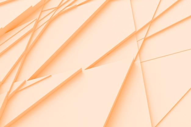 Hintergrund vieler rissiger dreidimensionaler formen in unterschiedlichen höhen und wirft eine schatten-3d-illustration