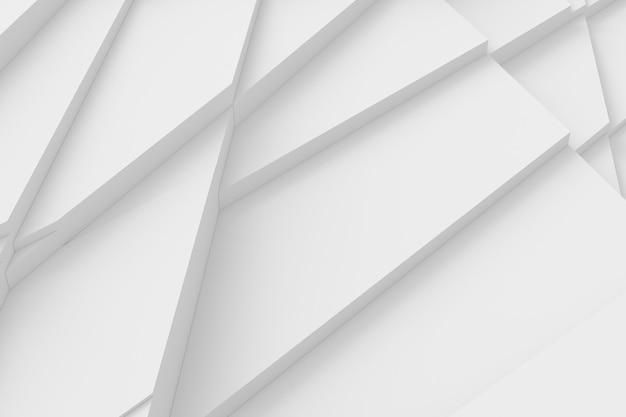 Hintergrund vieler rissiger dreidimensionaler formen in unterschiedlichen höhen voneinander und werfen eine schatten-3d-illustration