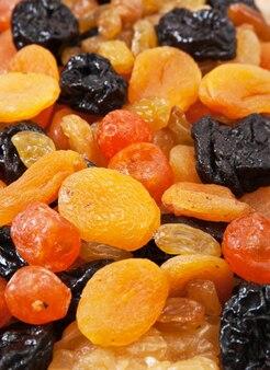 Hintergrund von trockenfruchtscheiben