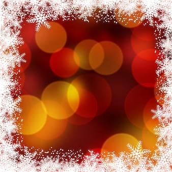 Hintergrund weihnachten mit schneeflocke grenze