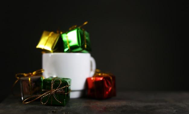 Hintergrund weihnachtsgeschenke.