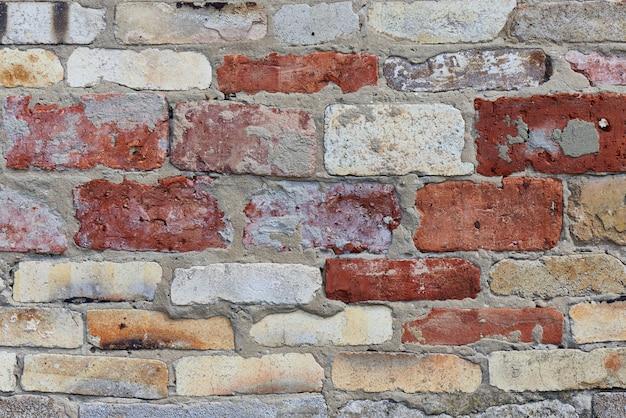 Hintergrundbeschaffenheit der backsteinmauernahaufnahme.