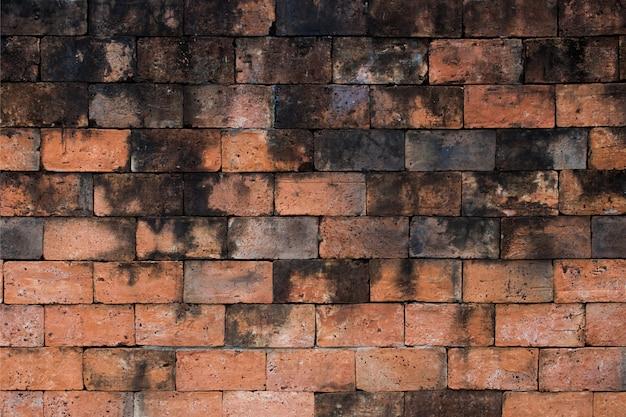 Hintergrundbeschaffenheit der schmutzigen wände des alten ziegelsteines.