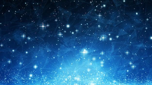 Hintergrundbeschaffenheitsdesign der blauen farbe abstraktes mit wellen und sternen