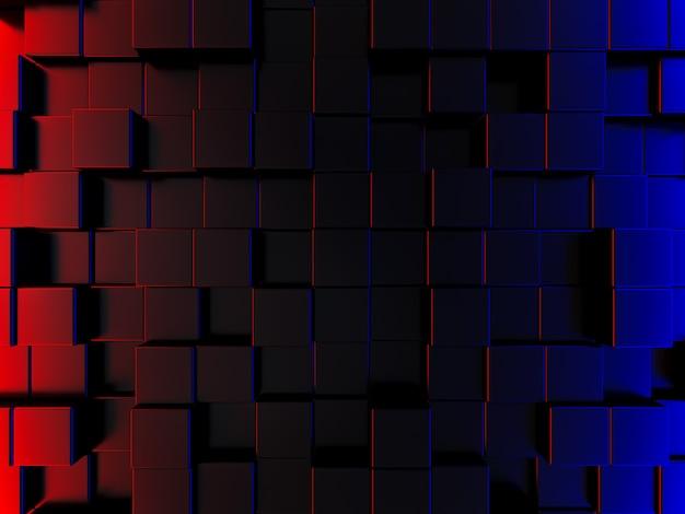 Hintergrundbild im abstrakten stil ist eine rechteckige und polygonale form, die hoch und niedrig aufgereiht ist