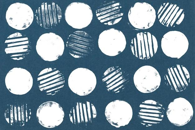 Hintergrundblockdrucke mit blauem kreismuster