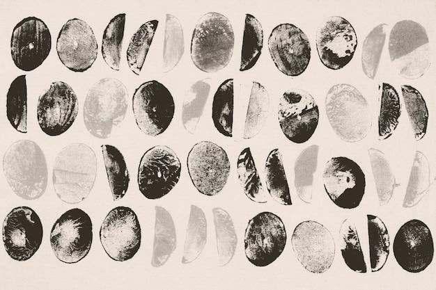 Hintergrundblockdrucke mit schwarzem kreismuster