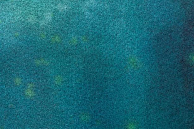 Hintergrundmarineblau der abstrakten kunst und türkisfarben. aquarell auf leinwand