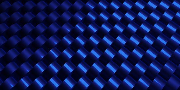 Hintergrundmaterial glanz aus stahl aluminium gefüttert muster 3d-darstellung