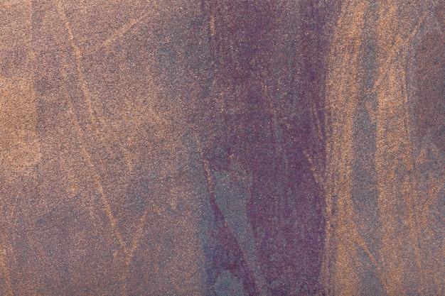 Hintergrundpurpur der abstrakten kunst mit bronzefarbe. mehrfarbenmalerei auf segeltuch.