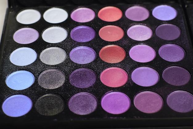 Hintergrundtextur der make-up-palette