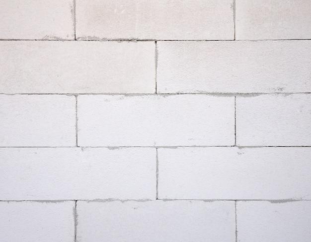 Hintergrundtextur des weißen leichtbetonblocks, geschäumter betonblock