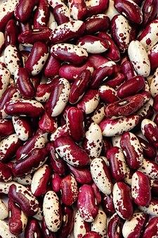 Hintergrundtextur große rot-weiße bohnen hülsenfrüchte