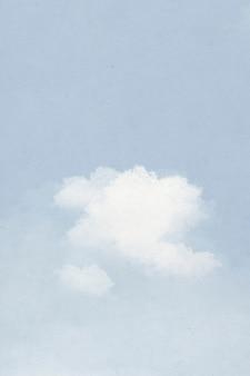 Hintergrundwolke auf abbildung des blauen himmels