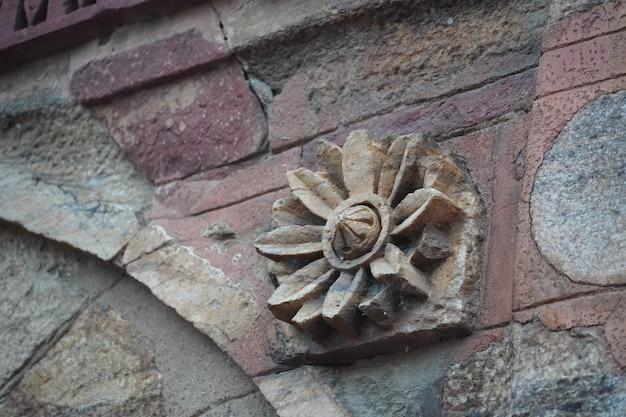 Historische alte kunst an der wand