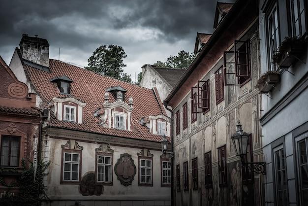 Historische häuser in cesky krumlov. tschechien