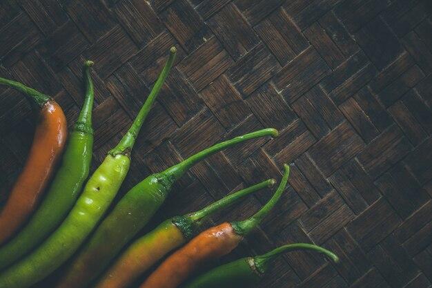 Hitze dämpfe von chili
