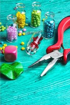 Hobbyhandwerk aus perlen