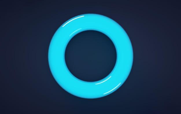 Hochauflösende 3d-render-blaue glaskugel mit schatten isoliert auf weiß, reflektierend