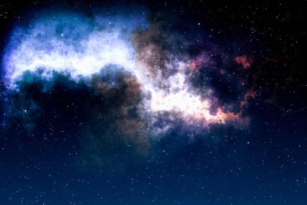 Hochauflösendes sternenfeld, bunter nachthimmelraum. nebel und galaxien im weltraum. hintergrund des astronomiekonzepts.